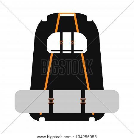 Travel Backpack On A White Background. Vector Illustration.