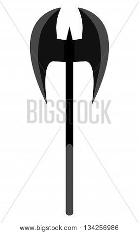 Medieval ax weapon vector. Flat style equipment. Isolated weapons and tools.