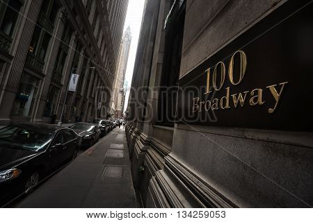 100 Broadway At Lower Manhattan