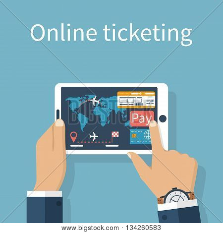 Tickets Online Vector