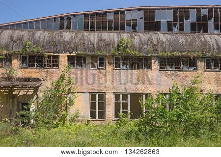 abandoned building, outside of abandoned factory building
