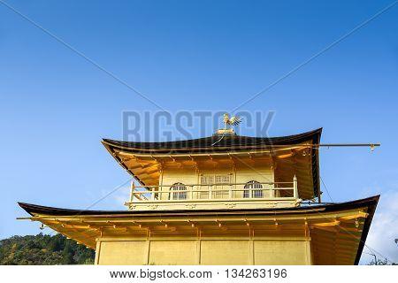 Kinkakuji Temple (The Golden Pavilion) one of famous landmarks in Kyoto Japan