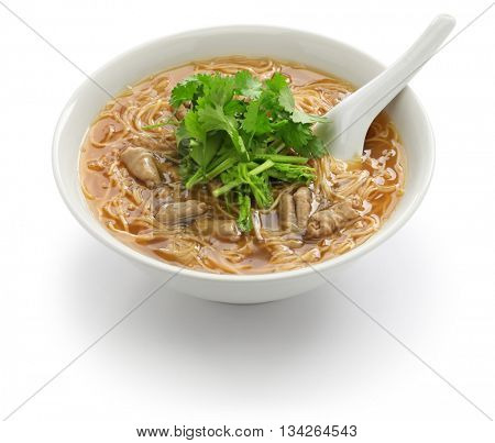 pork large intestine vermicelli soup, Taiwanese noodle cuisine