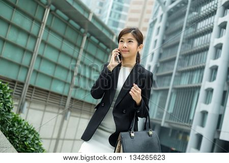Business woman chat on mobile phone