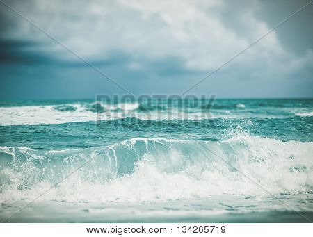 Strong Wave In The Sea