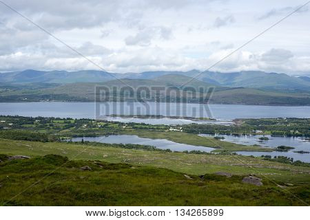 view from the kerry way in irelands wild atlantic way