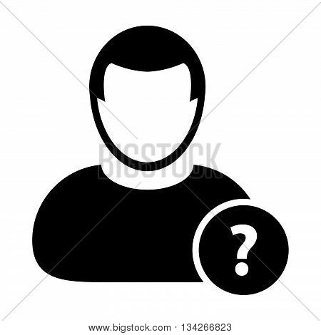 User Icon - Question, Information, Forum, FAQ User Icon in Glyph Vector Illustration