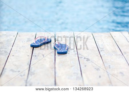 cooling off in a swimming pool on a hot summer's day