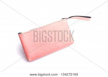 Color Womens Leather Purse Isolated On White Background