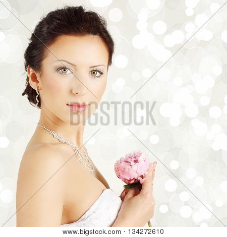 Portrait of young pretty woman - happy holiday
