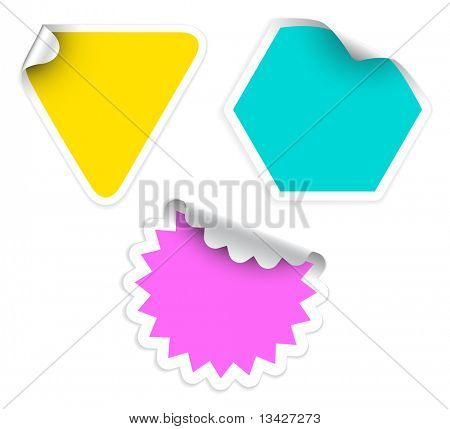 Set of fresh labels (vivid colors) - see my portfolio for more labels
