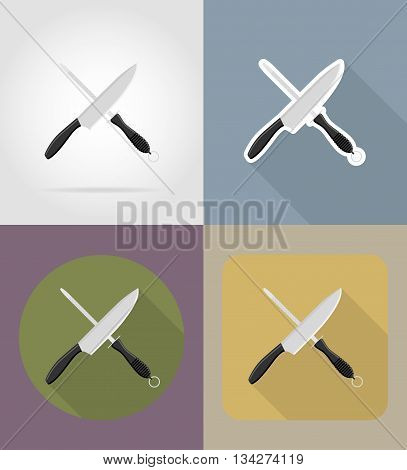 knife sharpener objects and equipment for the food vector illustration isolated on background