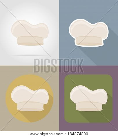 cook cap objects and equipment for the food vector illustration isolated on background