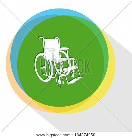 invalid chair. Internet template. Vector icon.