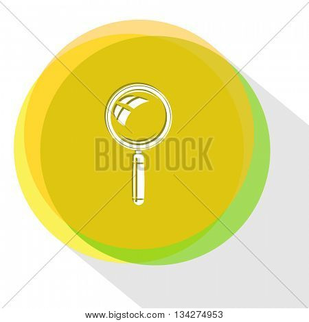 magnifying glass. Internet template. Vector icon.