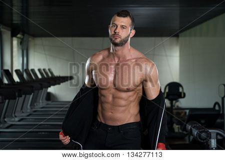 Strong Young Bodybuilder With Six Pack