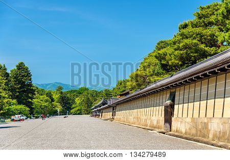 Wall of Kyoto-gosho Imperial Palace in Japan