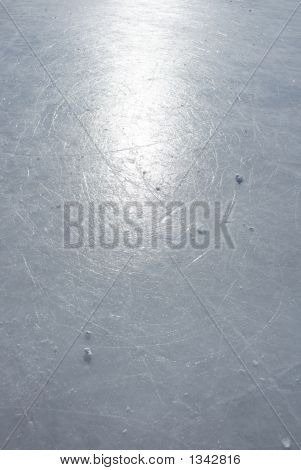 Sun Reflection On The Surface Of An Ice Rink
