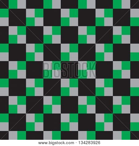 Black and White Hypnotic Background Seamless Pattern. Vector Illustration. EPS10