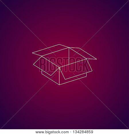 Box Vector Illustration. Flat Design Style