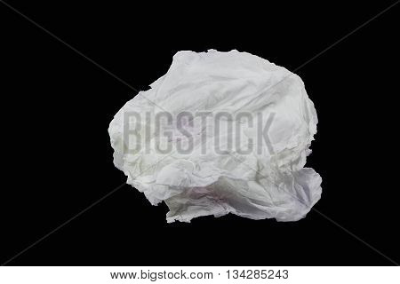 The white paper placed on a black background