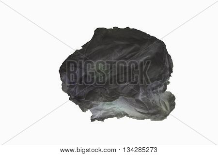 Stained paper Was placed on a white background