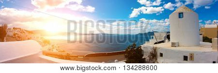 Sunrise in Oia. Santorini island. Greece