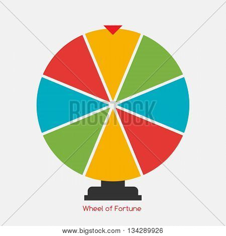 Wheel of Fortune, Lucky Icon. Vector Illustration EPS10