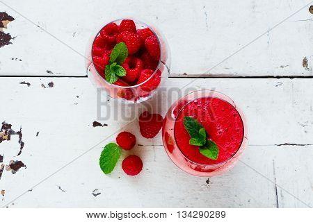 Healthy Raspberry Smoothie
