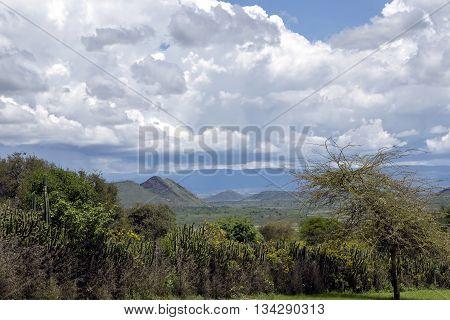 Hills near Lake Nakuru in the Great Rift Valley, Kenya, Africa