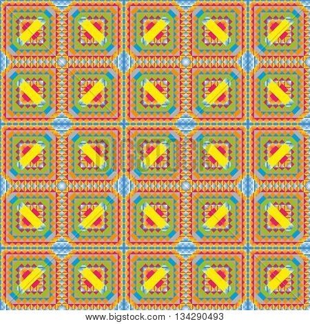 graphic ornament made geometric shapes different colors shapes and sizes