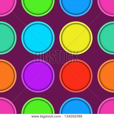 vector abstract seamless patern with colored circles