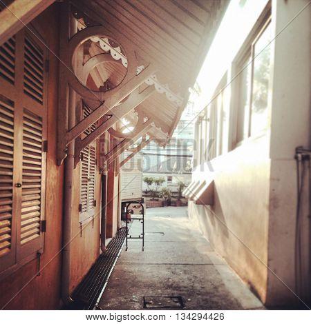 Architecture Wooden Concrete Drainer Roof Concept