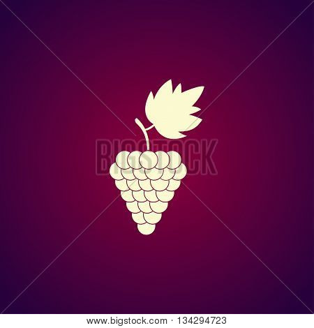 Grapes Icon. Flat Design Style.