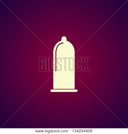 Condoms Icon. Flat Design Style.