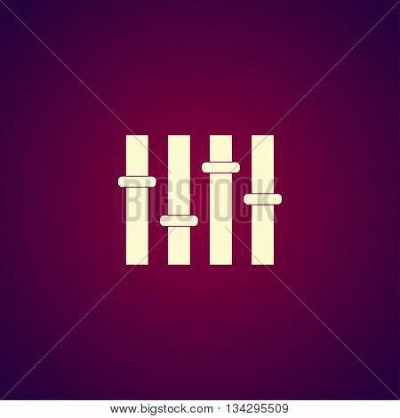 Equalizer Icon. Flat