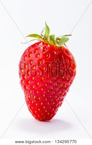 Strawberry. Collection isolated on white Ripe red strawberries on white background isolated