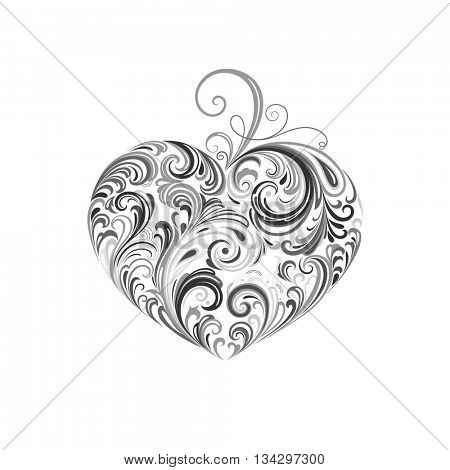 Abstract vector heart. Element for design.