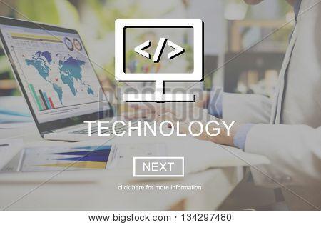 Technology Responsive Design Homepage Website Concept