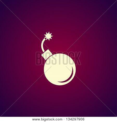 Bomb Icon. Flat Design Style.