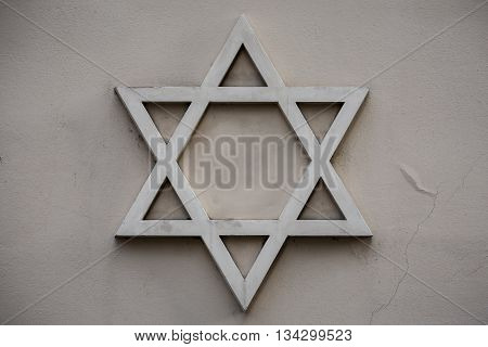 Star of David symbol of Judaism the symbol of the Jews.