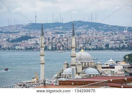 Panoramic view of Istanbul and the Bosphorus Turkey