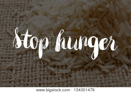 Stop hunger concept