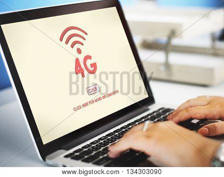 4G Wireless Online Technology Wifi Network Concept