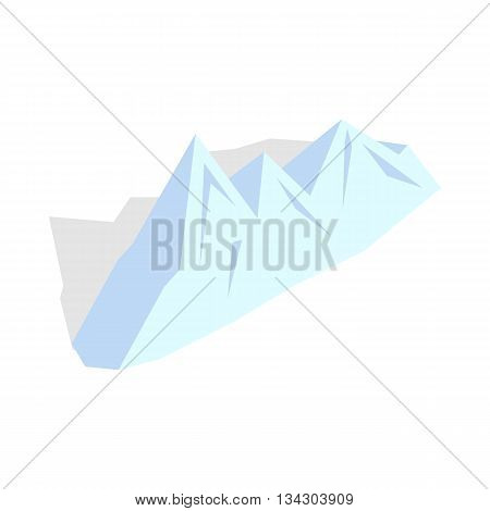 Snowy mountains icon in isometric 3d style on a white background