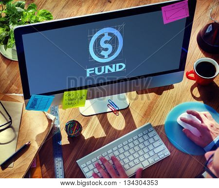 Fund Finance Business Money Technology Graphic Concept