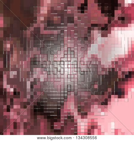 Abstract coloring dark and light red gradients background with visual lens flare,mosaic,plastic wrap and wave effects