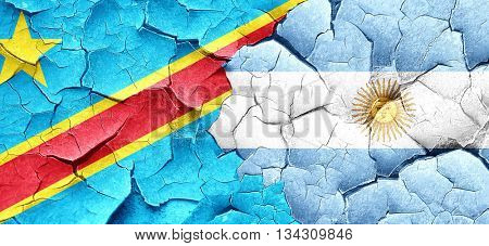 Democratic republic of the congo flag with Argentine flag