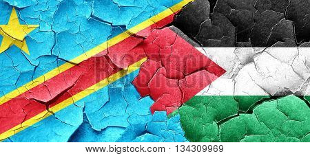 Democratic republic of the congo flag with Palestine flag