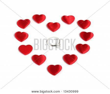 Diamond Ring Inside Red Heart